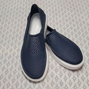 CROCS Citilane Roka Navy & White Slip on Shoes